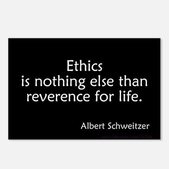 Ethics Reverence Life Schweitzer Postcards (Packag