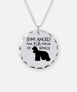 COCKER ANGEL Necklace Circle Charm