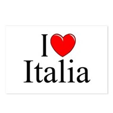 """I Love (Heart) Italia"" Postcards (Package of 8)"