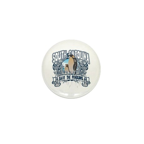 Save the Penguin South Carolina Mini Button (10 pa