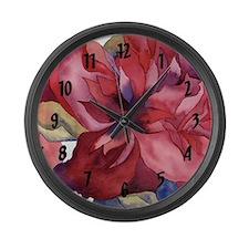 Large Peony Wall Clock