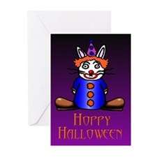Clown Bunny Greeting Cards (Pk of 10)