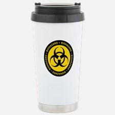 Yellow & Black Biohazard Travel Mug