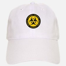 Yellow & Black Biohazard Baseball Baseball Cap