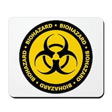 Yellow & Black Biohazard Mousepad