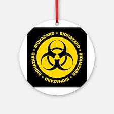 Yellow & Black Biohazard Ornament (Round)