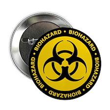 "Yellow & Black Biohazard 2.25"" Button"