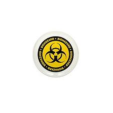 Yellow & Black Biohazard Mini Button