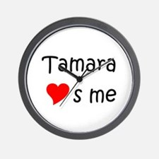 Unique Tamara Wall Clock