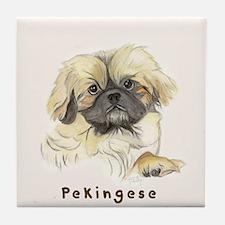 Pekingese by Shawna Pauley Tile Coaster