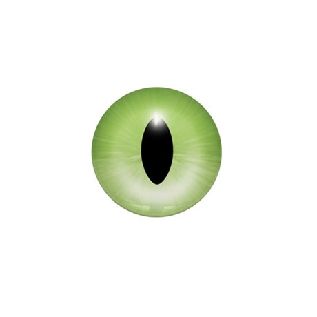Kitten's Green Eye Mini Button (10 pack)