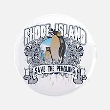 "Save the Penguin Rhode Island 3.5"" Button"