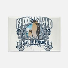 Save the Penguin Rhode Island Rectangle Magnet