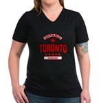 Toronto Ontario Women's V-Neck Dark T-Shirt