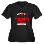 Toronto Ontario Women's Plus Size V-Neck Dark T-Sh