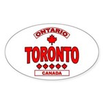 Toronto Ontario Oval Sticker
