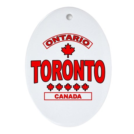 Toronto Ontario Oval Ornament