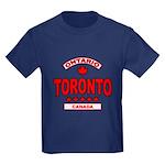Toronto Ontario Kids Dark T-Shirt