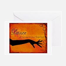 Tribal Bellydance orange Greeting Card