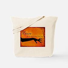 Tribal Bellydance orange Tote Bag