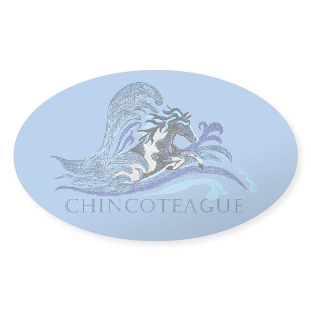 297695163 CafePress Chincoteague Pony Oval Sticker Sticker Oval