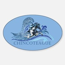 Chincoteague Pony Oval Decal
