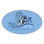 Chincoteague Pony Oval Sticker