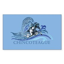 Chincoteague Pony Rectangle Decal