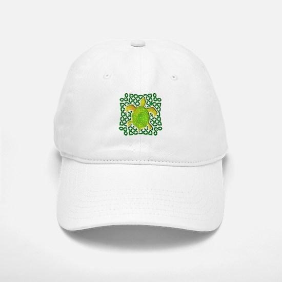 Celtic Knot Turtle (Green) Baseball Baseball Cap
