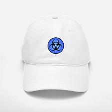Blue Biohazard Symbol Baseball Baseball Cap