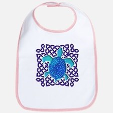 Celtic Knot Turtle (Blue) Bib