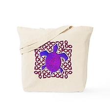 Celtic Knot Turtle (Purple) Tote Bag