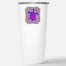 Celtic Knot Turtle (Purple) Stainless Steel Travel