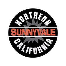 """Sunnyvale California 3.5"""" Button"""