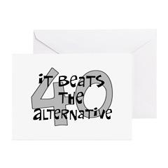 40th birthday alternative Greeting Cards (Pk of 20