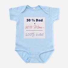 """""""100% Cute"""" - Blue Infant Bodysuit"""
