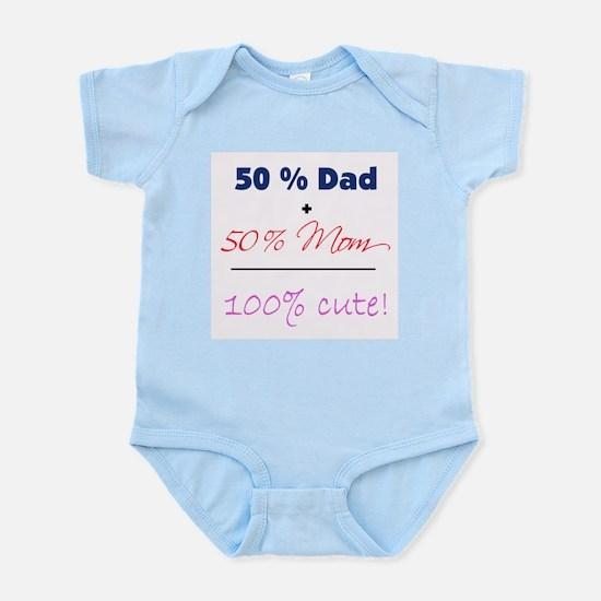 """""""100% Cute"""" - Pink Infant Bodysuit"""