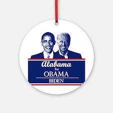 Alabama for Obama Ornament (Round)