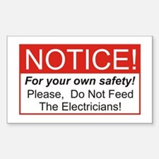 Notice / Electrician Rectangle Decal