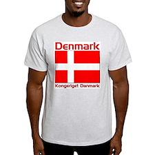 Denmark Kongeriget Danmark Ash Grey T-Shirt