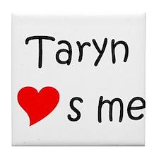 Cute Heart taryn Tile Coaster