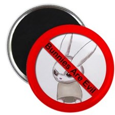 """BtVS bunnies are evil 2.25"""" Magnet (10 pack)"""