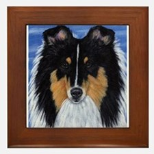 Blue Sky Tri Sheltie Framed Tile