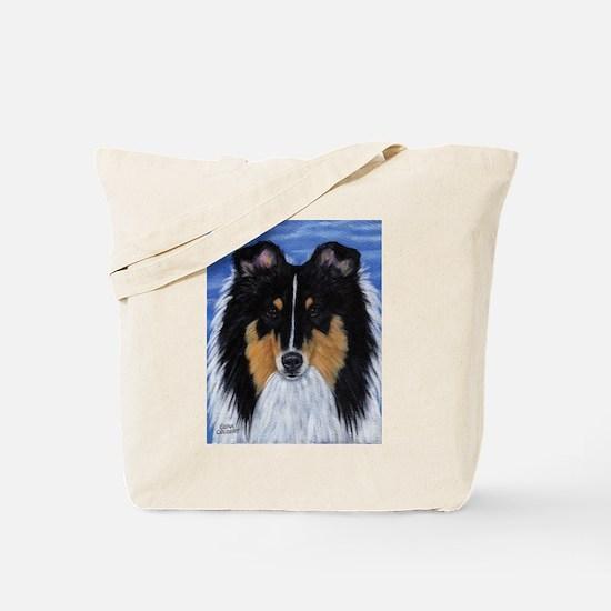 Blue Sky Tri Sheltie Tote Bag