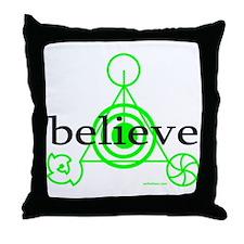 ALIEN CROP CIRCLE Throw Pillow