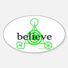 ALIEN CROP CIRCLE Oval Decal