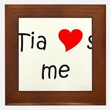 Unique Name tia Framed Tile