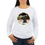 XmasDove/ Scottie Women's Long Sleeve T-Shirt