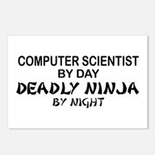 Computer Scientist Deadly Ninja by Night Postcards