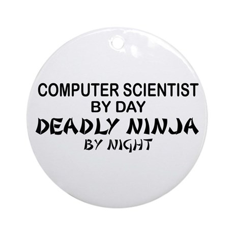 Computer Scientist Deadly Ninja by Night Ornament